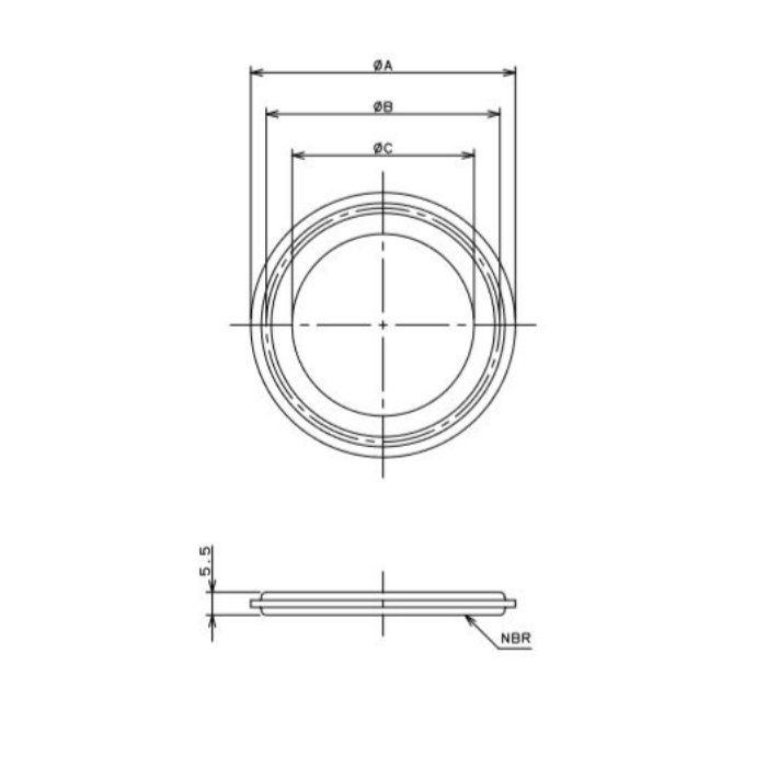 690-16-C 工場設備継手 ヘルールガスケット 1.5S