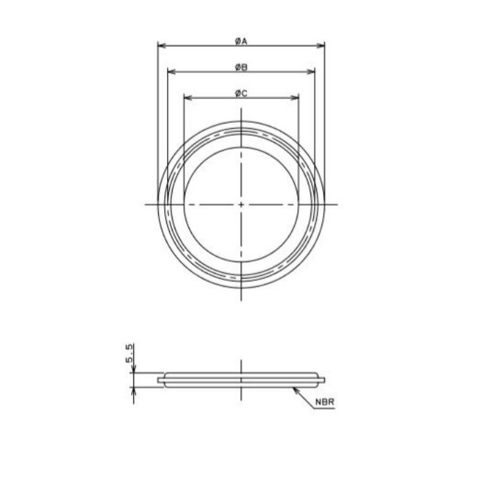 690-16-E 工場設備継手 ヘルールガスケット 2.5S