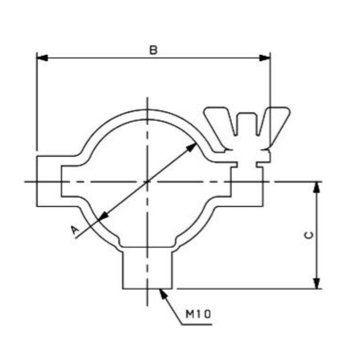 690-24-F 工場設備継手 パイプハンガー 3S