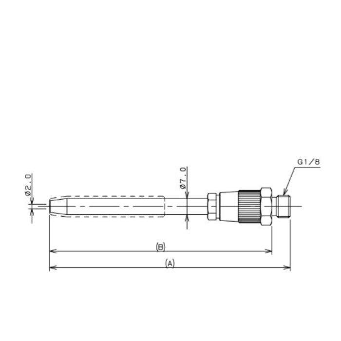 518-551-100 工場設備継手 ロングノズル(空気流量調節機能つき) 100mm