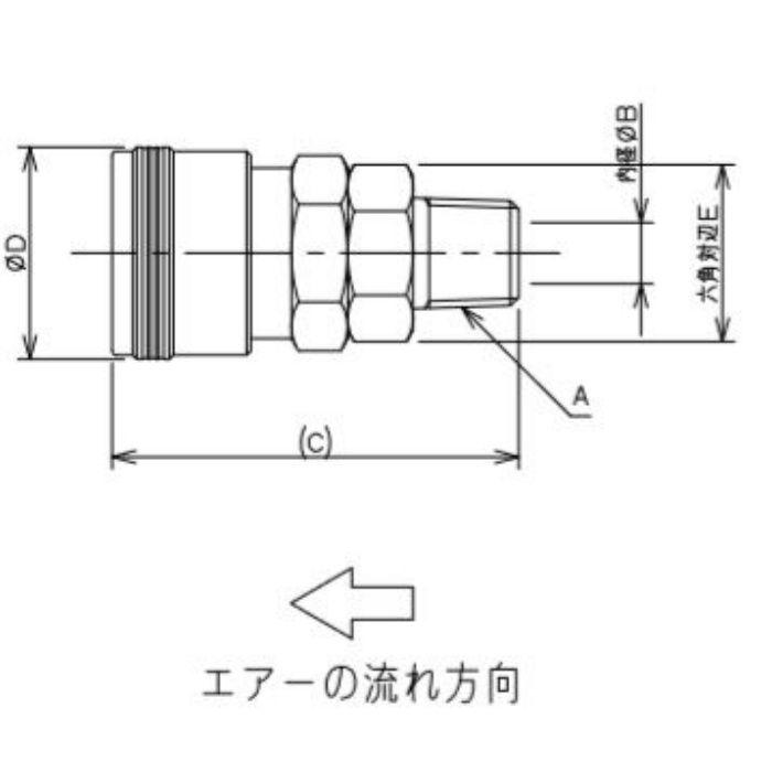 518-30-20X6 工場設備継手 外ネジソケット