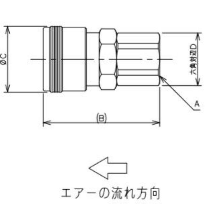 518-31-40X20 工場設備継手 内ネジソケット