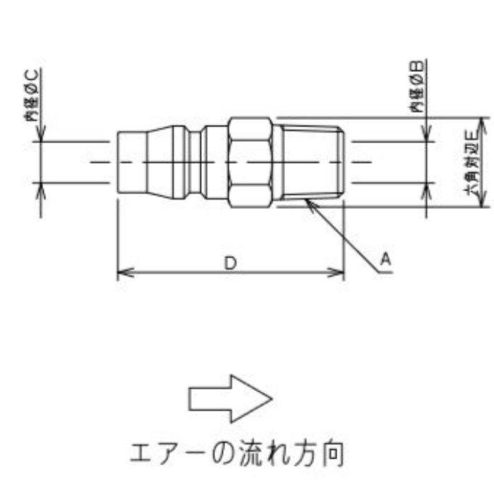 518-40-20X3 工場設備継手 外ネジプラグ