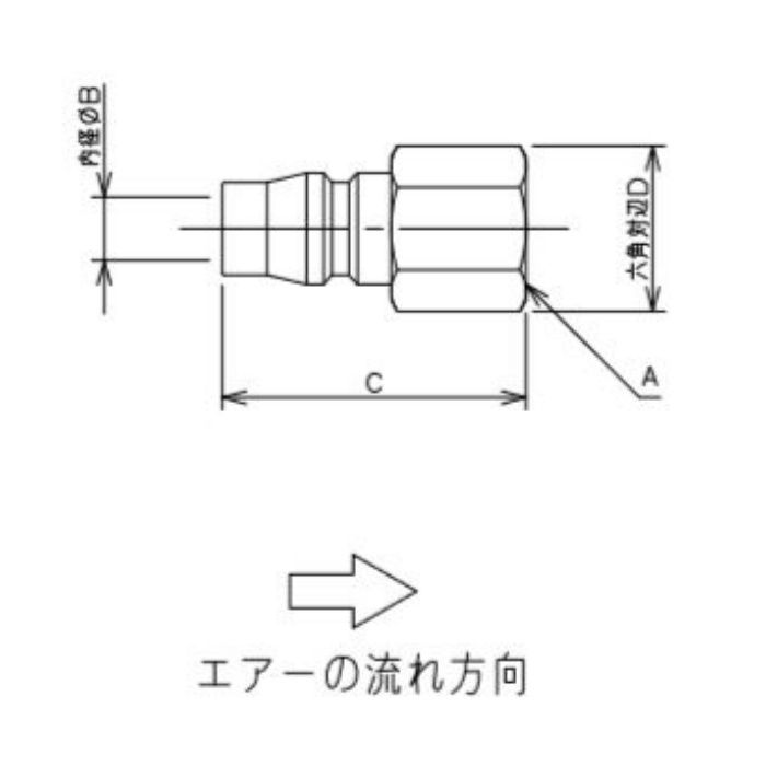 518-41-20X6 工場設備継手 内ネジプラグ