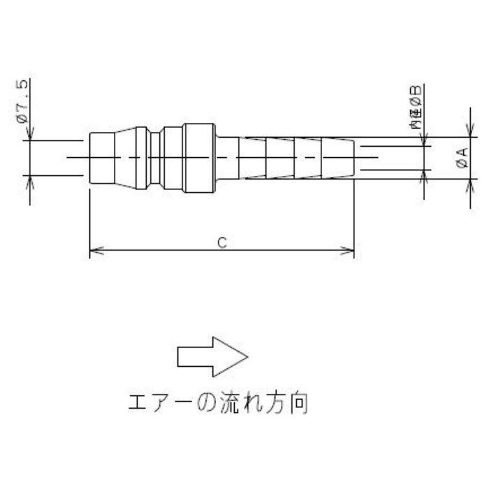 518-42-20X1/4 工場設備継手 タケノコプラグ