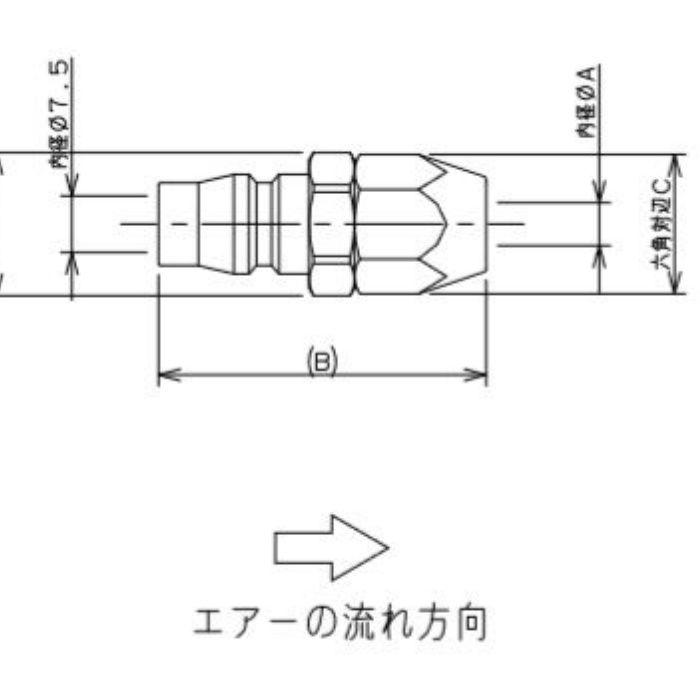 518-43-20X8.5 工場設備継手 ナットプラグ