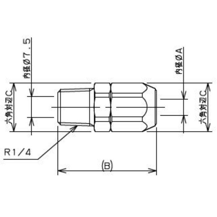 518-50-8.5X6 工場設備継手 外ネジナット