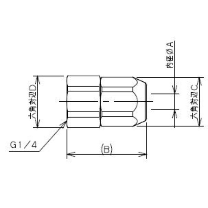 518-51-6.5X6G 工場設備継手 内ネジナット