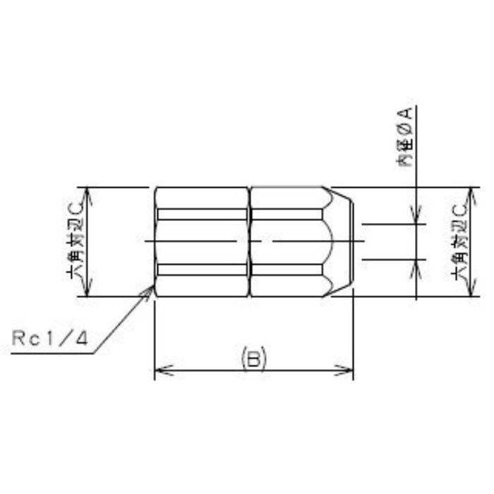518-51-8.5X6 工場設備継手 内ネジナット