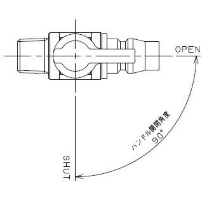 651-88-1/4X20 工場設備継手 ミニチュアボールバルブ