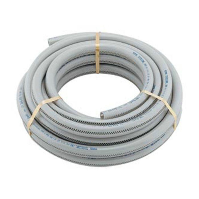 597-043-10 工場設備継手 高耐圧ホース(透明ラインつき) 10m