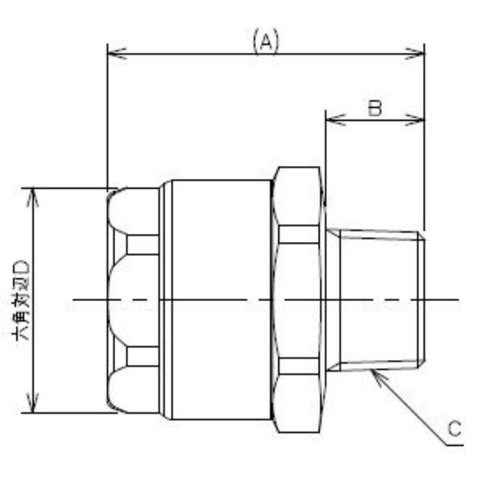 613-30-25X1 工場設備継手 ホースアダプター