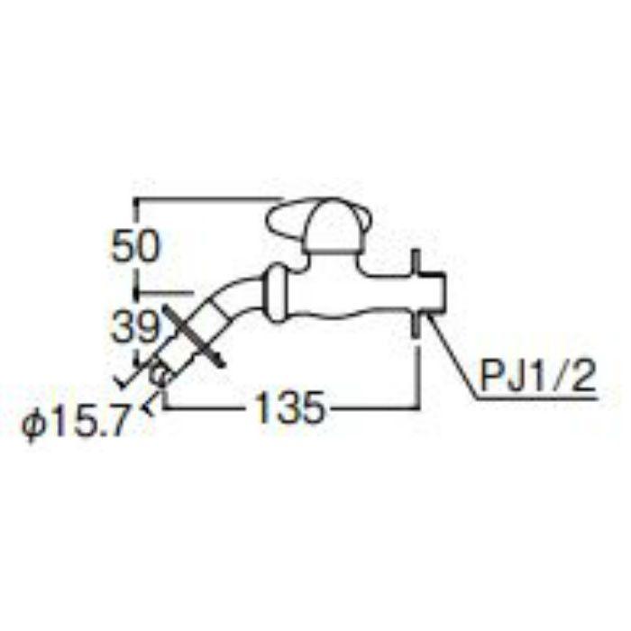 JY1235TV-1-13 ミニセラ洗濯機用ホーム水栓
