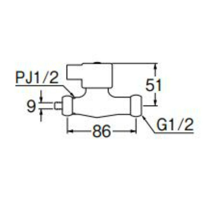 PV271S-13 浄水器接続用化粧バルブ