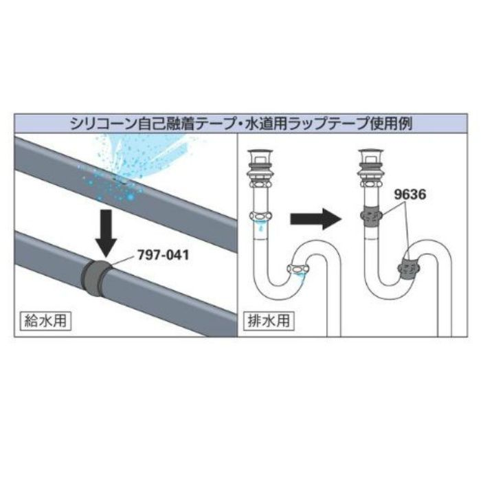 797-041-0.8 補修テープ シリコーン自己融着テープ