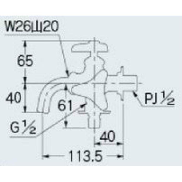 704-108-13 洗濯機用双口水栓