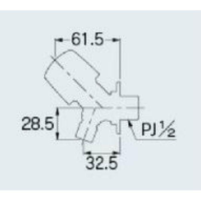 721-516-13 洗濯機用水栓 送り座つき
