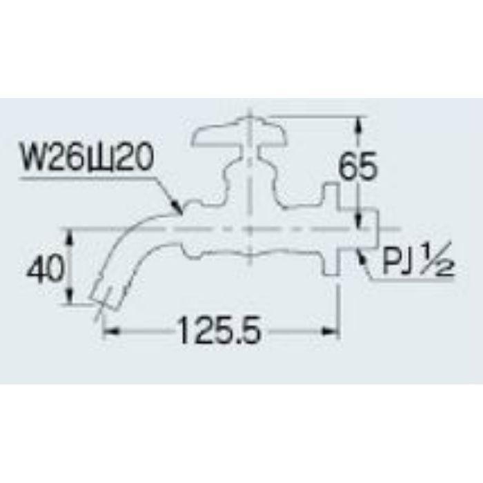 7018 洗濯機用水栓 送り座つき 13