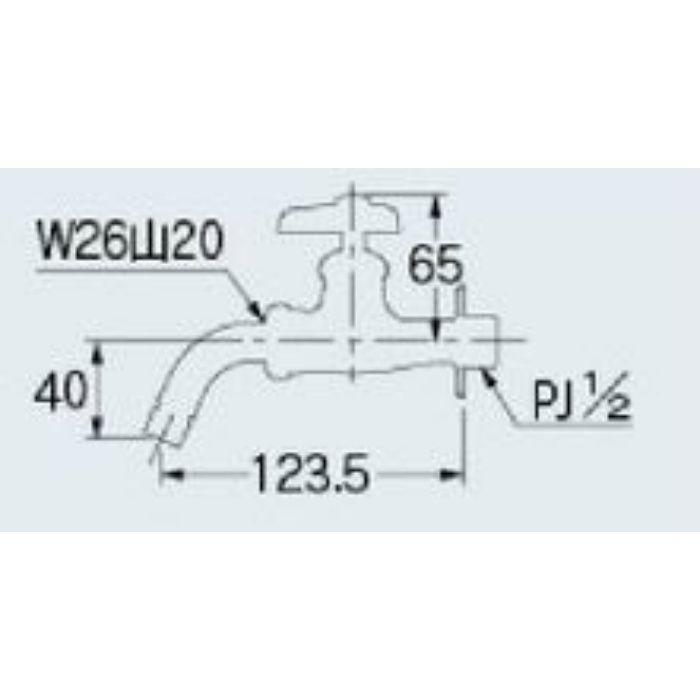 7019BKK 洗濯機用水栓 13