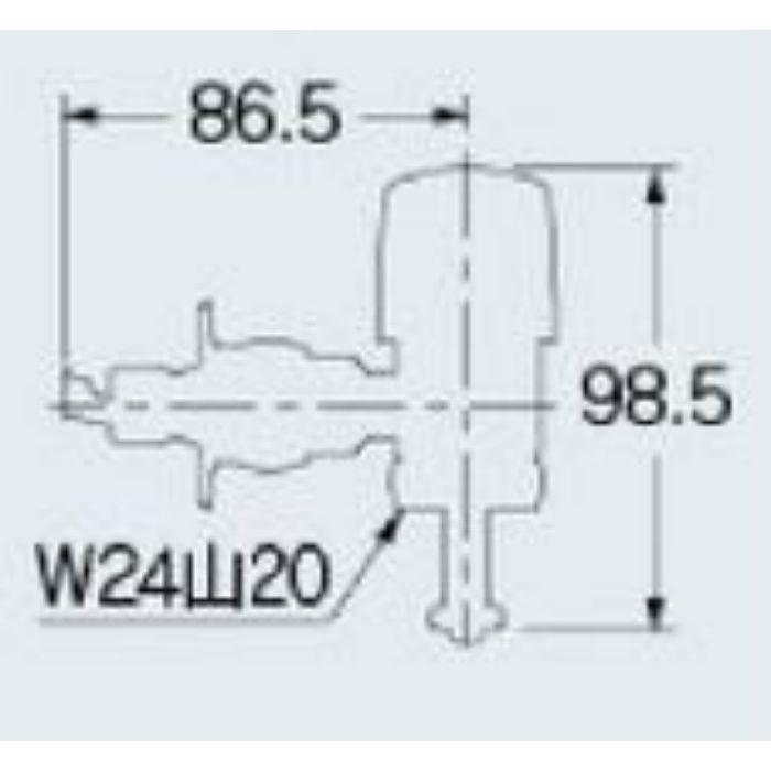 732-031-13 洗濯機用水栓上部 ストッパーつき