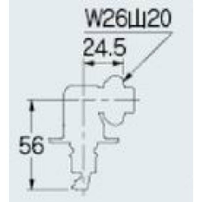 772-545 洗濯機用ニップル ストッパーつき
