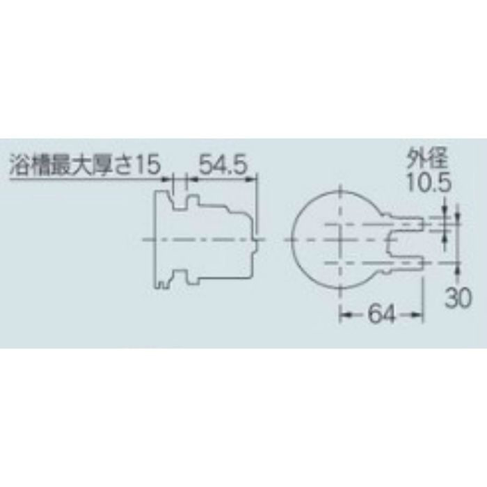 415-122 一口循環金具(ペアホース用) 10A
