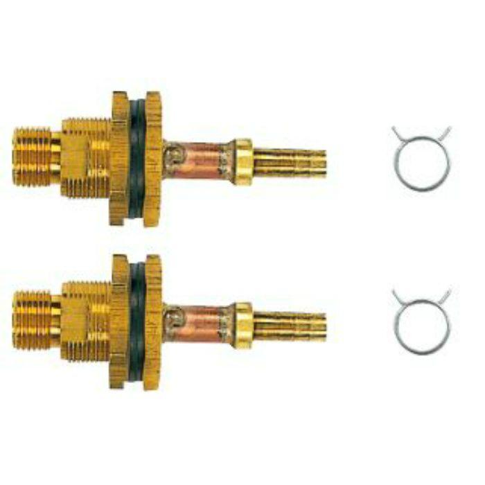 416-457 ユニットバス貫通金具(ペアホース用) 2個セット 10A
