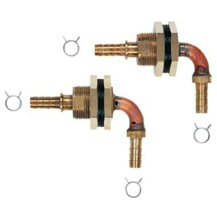 416-451 ユニットバス貫通金具(ペア耐熱管用) 2個セット 10A