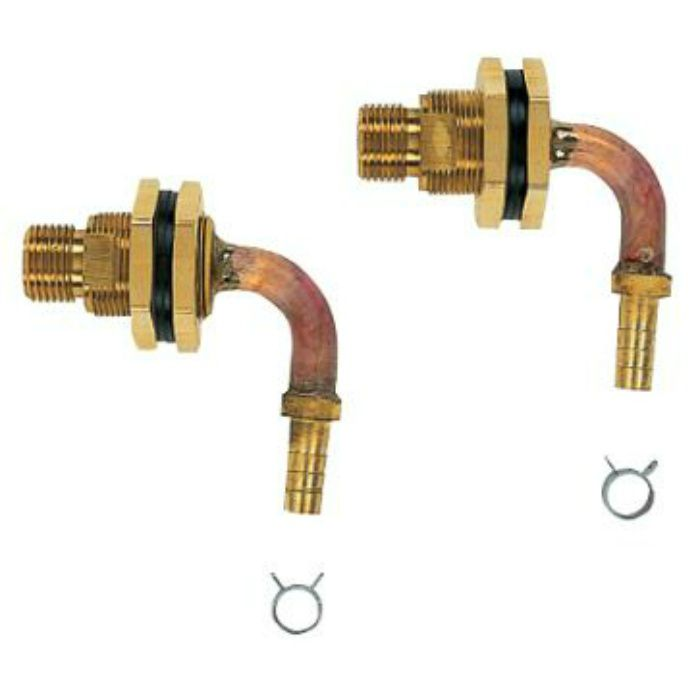 416-453 ユニットバス貫通金具(ペア耐熱管用) 2個セット 10A