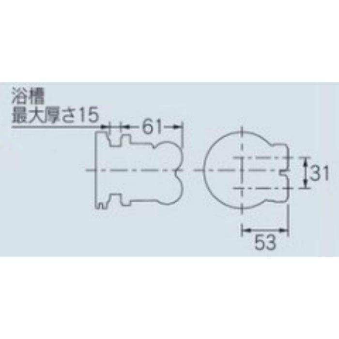415-105 一口循環金具(ワンロック式) 13A