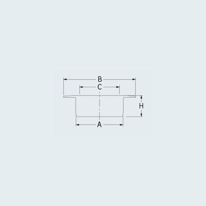 400-234-75 ツバヒロ防虫目皿