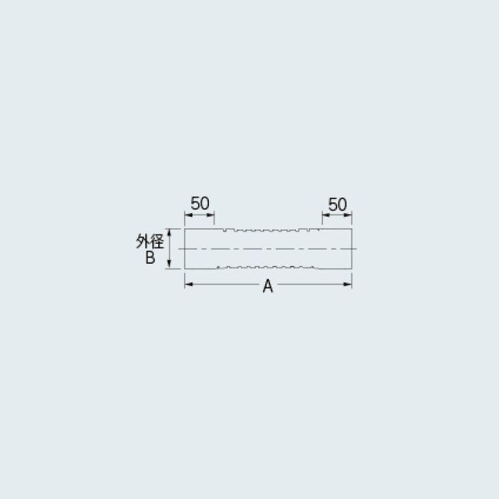 437-313 排水フレキパイプ 40×500