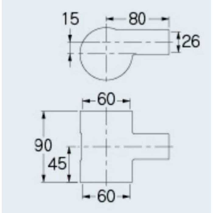455-511 食洗機排水用分岐継手 耐熱用