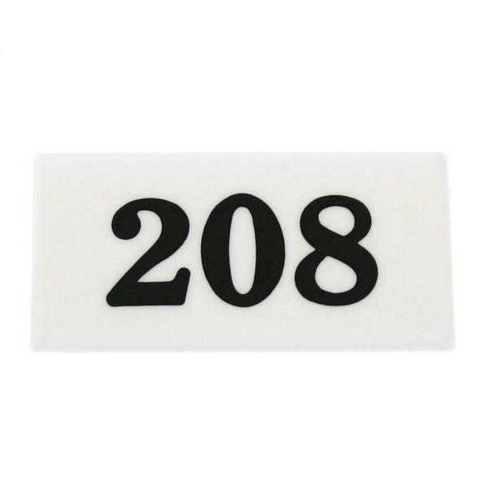 UP357-208 サインプレート 部屋番号