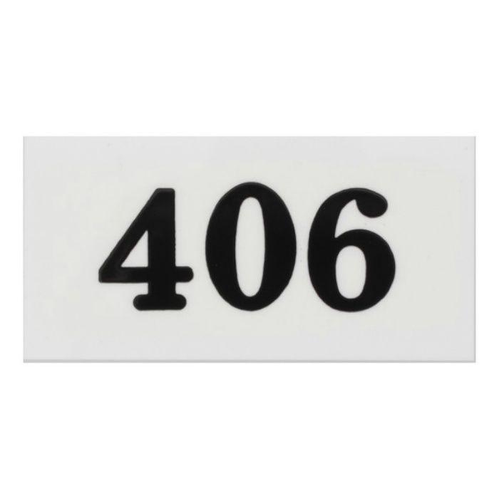 UP357-406 サインプレート 部屋番号