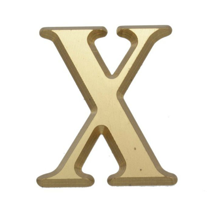 NUM43-X BRASS LETTERS(真鍮文字)