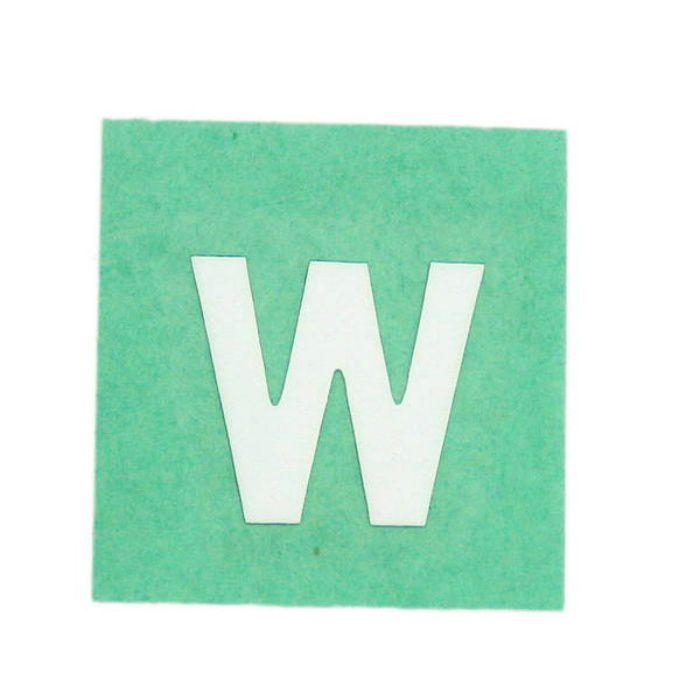 CL15W-W キャリエーター(カットシート文字) 白 天地15mm