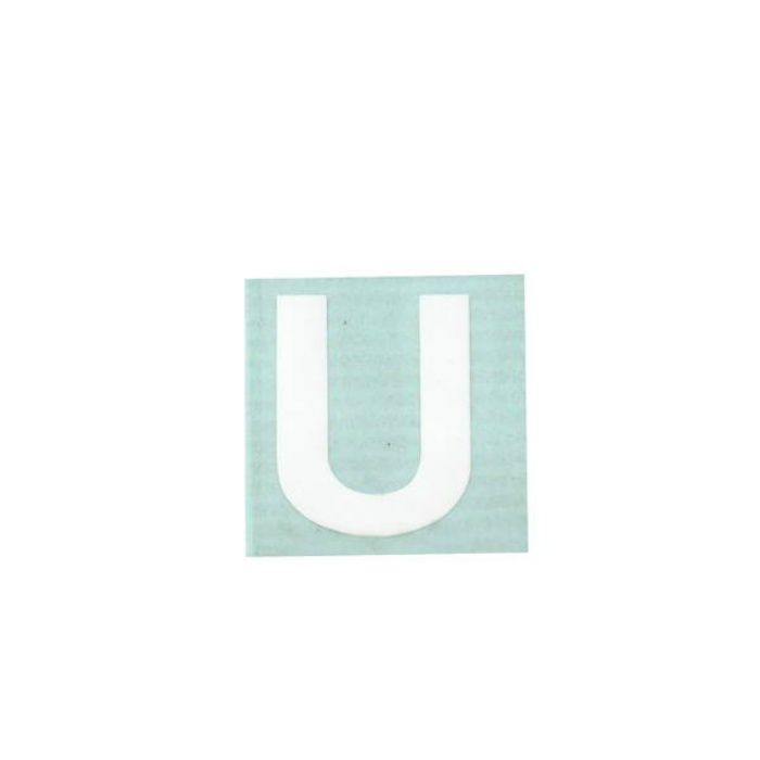 CL30W-U キャリエーター(カットシート文字) 白 天地30mm