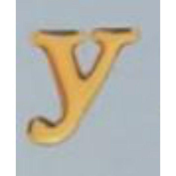 GU20-Y クリスタルメタル文字 ゴールドメタル文字