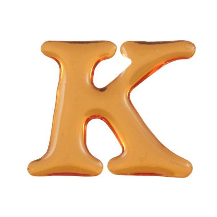 GU25-K クリスタルメタル文字 ゴールドメタル文字