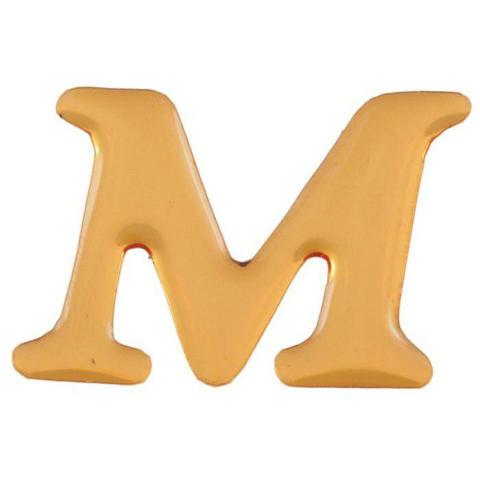 GU25-M クリスタルメタル文字 ゴールドメタル文字