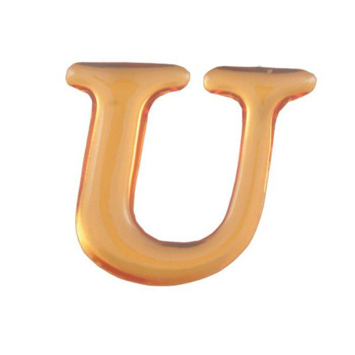 GU25-U クリスタルメタル文字 ゴールドメタル文字