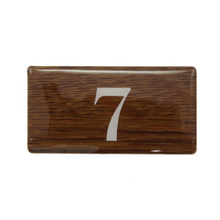 BJ24-7 クリスタルサイン テーブルナンバー オーク