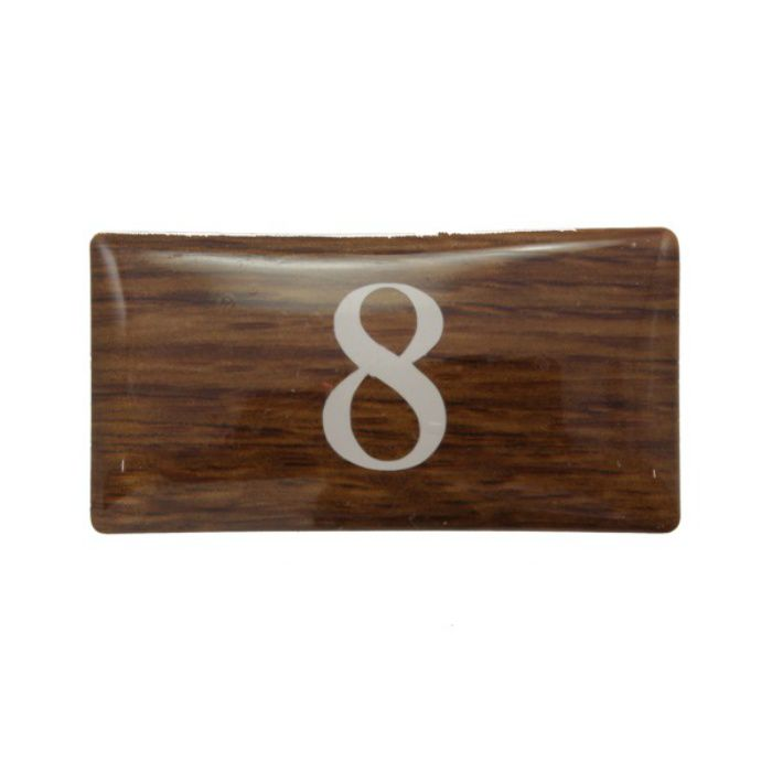 BJ24-8 クリスタルサイン テーブルナンバー オーク