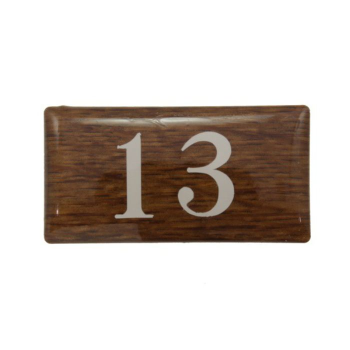 BJ24-13 クリスタルサイン テーブルナンバー オーク