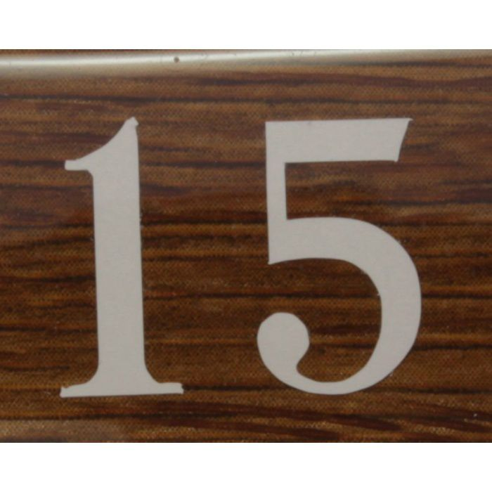 BJ24-15 クリスタルサイン テーブルナンバー オーク