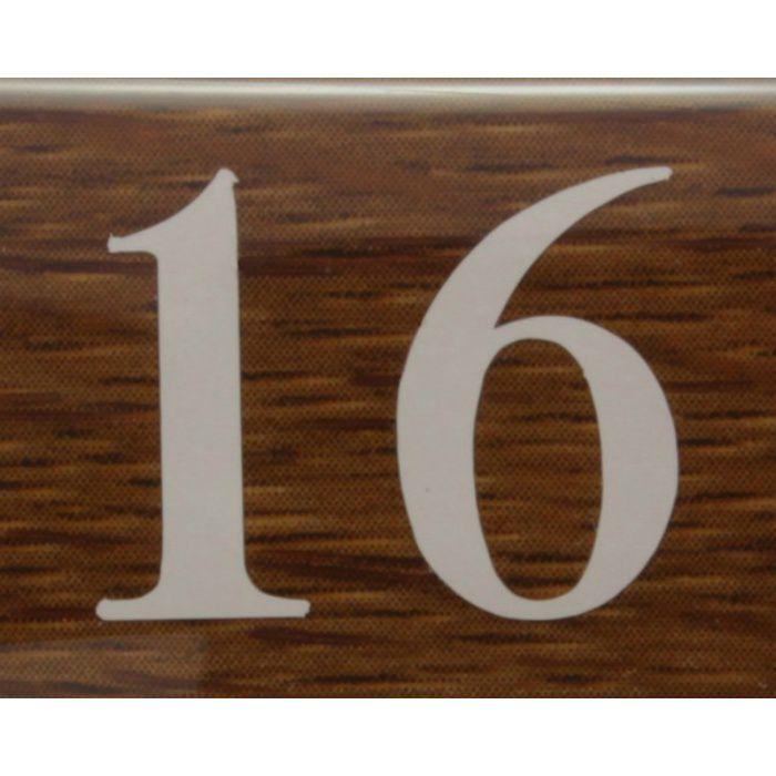 BJ24-16 クリスタルサイン テーブルナンバー オーク