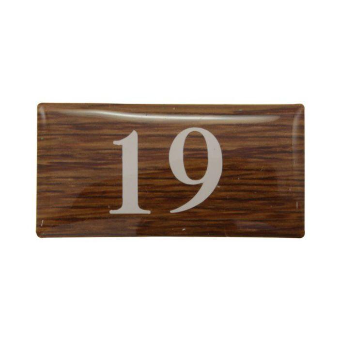 BJ24-19 クリスタルサイン テーブルナンバー オーク