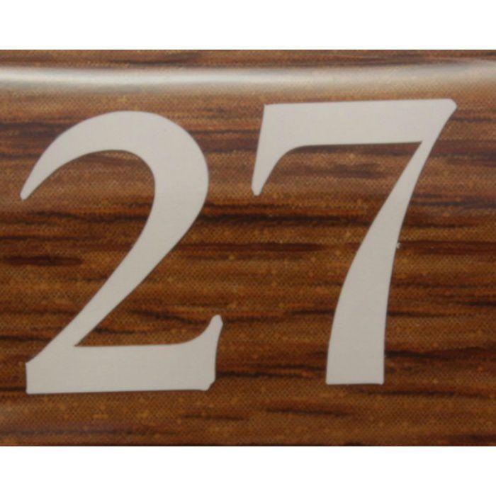 BJ24-27 クリスタルサイン テーブルナンバー オーク