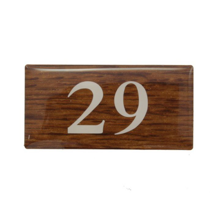 BJ24-29 クリスタルサイン テーブルナンバー オーク